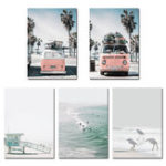New Sea Beach Landscape Nordic Poster Wall Art Canvas Prints Home Decorations Unframe
