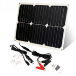 New ALLPOWERS 12V 18W Portable Solar Battery Car Charger For Car Battery Automobile Motorcycle Boat