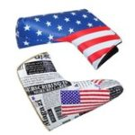 New Sports Golf Putter Head Cover Club PU Headcover Universal American Flag Protector