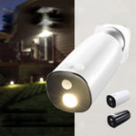 New Solar Power Body Induction Sensor Wall Lamp Waterproof Garden Street Light