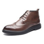 New Men Brogue Carved Boots