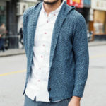 New Mens Casual Warm Hooded knitted Cardigans