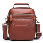 New Men Genuine Leather Business Casual Large Capacity Bag