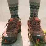 New Mens Retro Ethnic Diamond Pattern Middle Tube Socks