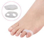 New Double Ring Toe Separator Reinforced Soft Silicone Gel Straightener Bunion Protector