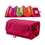 New IPRee® Nylon Outdoor Travel Foldable Cosmetic Bag Large Capacity Hanging Shower Makeup Bag