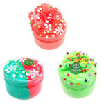 New 100ML Christmas Cloud Slime Squishy Scented Stress Clay Kids Toy Sludge Cotton Mud Plasticine Gifts