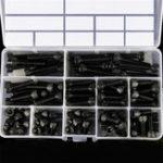 New Suleve™ M6CH2 92Pcs M6 12.9 Grade Carbon Steel Hex Socket Cap Head Screw Bolt 8-35mm Set