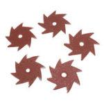 New 10Pcs 80/120/180/240/320 Grit Octagonal Abrasive Sandpaper Double Layer Sanding Buffing Tool