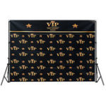 New 5x3FT 7x5FT Black Red Carpet Event VIP Pattern Photography Backdrop Studio Prop Background