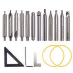 New HSS Milling Cutter Drill Bit Set Locksmith Tools Vertical Spare Parts For Key Cutting Machine