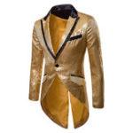 New Mens Sequins Design Tuxedo Dress Suit Wedding Stage Blazers
