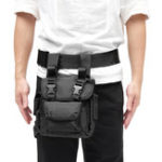 New Men Nylon Waterproof Wear-resistant Tactical Waist Drop Leg Bag Belt Climbing Hiking Cycling Pack