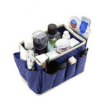 New Non-woven Desktop Makeup Box Three-side Pocket Cosmetics Finishing Bag