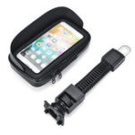 "New 4.7"" Waterproof Sun Shade Anti-UV Cellphone GPS Holder Motorcycle Mount Case Bag"
