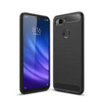 New Bakeey Carbon Fiber Shockproof Silicone Back Cover Protective Case for Xiaomi Mi 8 Lite 6.26 inch