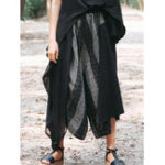 New Vintage Women Elastic Waist Striped Wide Leg Pants