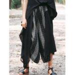 New Vintage Women Elastic Waist Striped Wide Leg Pants