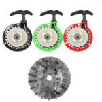 New 2Pcs Metal 49cc Universal Pull Starter And Flywheel For Dirt Bike Mini Moto Quad 49cc