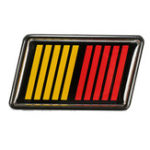 New Double Color Front Grille Emblem Badge Ralliart For Lancer Evolution X K