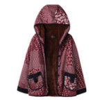 New Women Vintage Printed Patchwork Hooded Coats