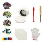 New 10Pcs Small Microwave Kiln Kits DIY Fusing Glass Jewelry Set Handmade Art Crafts Ornament Decor Tool