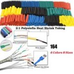 New 164Pcs Polyolefin Shrinking Assorted Heat Shrink Tube Wire Cable Insulated Sleeving Tubing Set