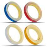 New 1cm*5m Glossy Motorcycle Helmet Reflective Decorative Safety Tape DIY Sticker Decal Roll Strip