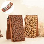 New Women Genuine Leather Leopard Print Long Purse