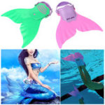 New New Mermaid Monofin Mono Fin Flippers Swimming Toy Mermaid Tails