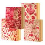 New Christmas Santa Claus Elk Bag Paper Party Holiday Xmas Candy Bag Party Gift