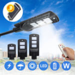 New 20W 40W 60W Solar Powered LED Wall Street Light Outdoor Lamp With Remote Control
