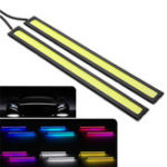 New 17cm COB LED Daytime Running Strip Light DRL Car Driving Fog Lamp 12V 6W 2Pcs