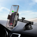 New Baseus Intelligent Infrared Sensor Auto Lock 10W Qi Wireless Car Charger Holder For iPhone XS Note 9