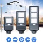 New 20W 40W 60W Solar LED Street Light PIR Motion Sensor Radar Induction Wall Lamp / Pole