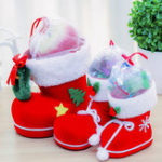 New Christmas Candy Bag Santa Claus Boots Cute Holders