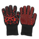 New A Pair Extreme Heat Resistant BBQ Oven Work Gloves 500°C Pot Holder Cooking Mitts