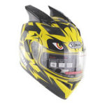 New SOMAN Motorcycle Full Face Helmet Dual Lens Anti-UV Anti-Scratch With Horn