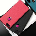 New Bakeey Fabric PC+PU Leather Back + Soft TPU Bumper Protective Case for Xiaomi Mi 8 Lite 6.26 inch