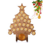 New Wooden Christmas Advent Calendar Fit 24 Circular Chocolates Stand Rack Decorations