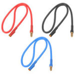 New 30cm 16AWG 3.5mm Banana Male Female Plug Extension Cable Soft Silicone Wire