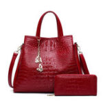 New Women Fashion Crocodile Handbag Ladies Shoulder Bag