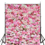 New 5x7FT Wedding Rose Flowers Photography Backdrop Studio Prop Background