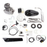 New PK80 Vesion 80cc 2 Cycle Motorcycle Muffler Motorized Bike Engine Accessories Set Silver