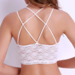 New Lace Transparent Splicing Padded No Rims Bra