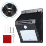 New Solar Power 20 LED PIR Motion Sensor Wall Light Waterproof Outdoor Lamp