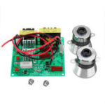 New AC 110V 100W Ultrasonic Cleaner Driver Power Board With 2Pcs 50W 40K Transducer Square