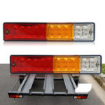 New CNSUNNYLIGHT 12V 20 LED Car Tail Light Reversing Running Brake Turn Lamp for Truck Tailer