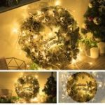 New 30CM Luxury Golden Christmas Light Door Home Window Wreath Light Home Decor Xmas Gift