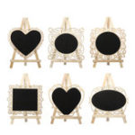 New Mini Vintage Wooden Blackboard Table Number Signs Message Memo Chalk Board Party Decorations